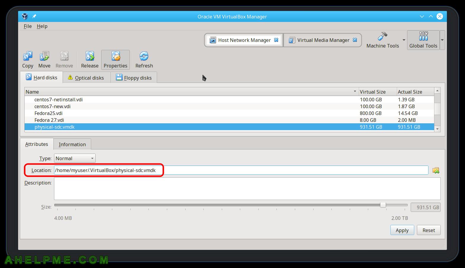 Add a raw disk to a virtualbox virtual machine | Any IT here