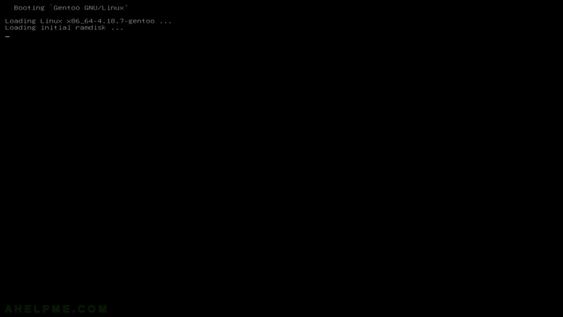 Gentoo Minimal Installation CD (amd64 aka x86_64) – booting (in UEFI