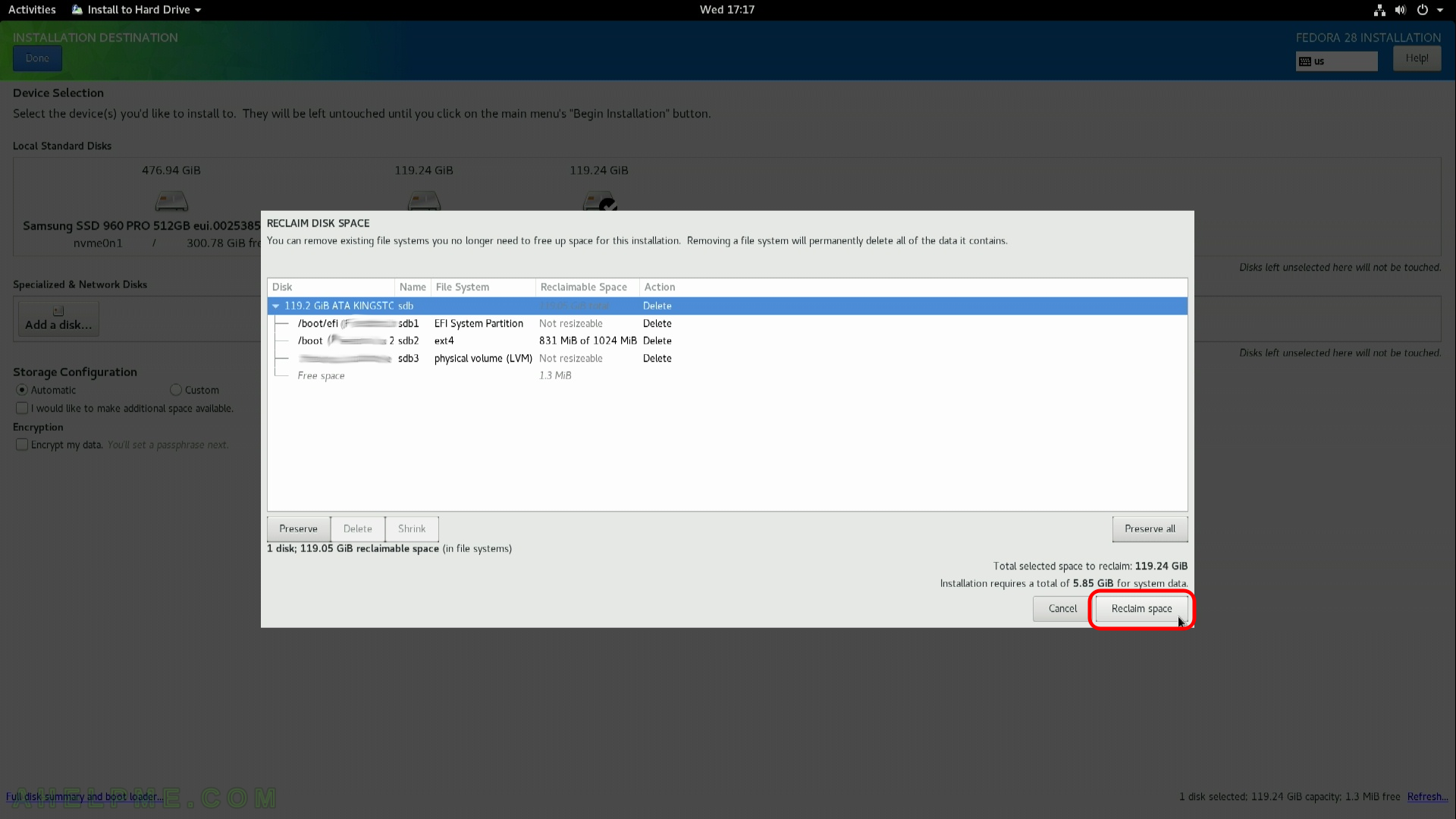 Install Fedora Workstation 28 (Gnome GUI) | Any IT here