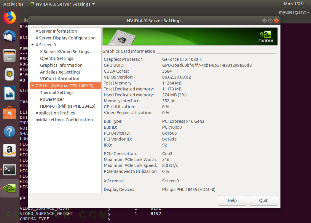 Install NVIDIA proprietary drivers on Ubuntu 18 0 LTS