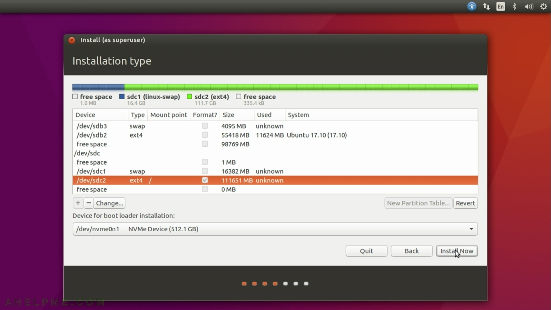 Install Ubuntu 16 04 LTS on a PC with existing windows 10