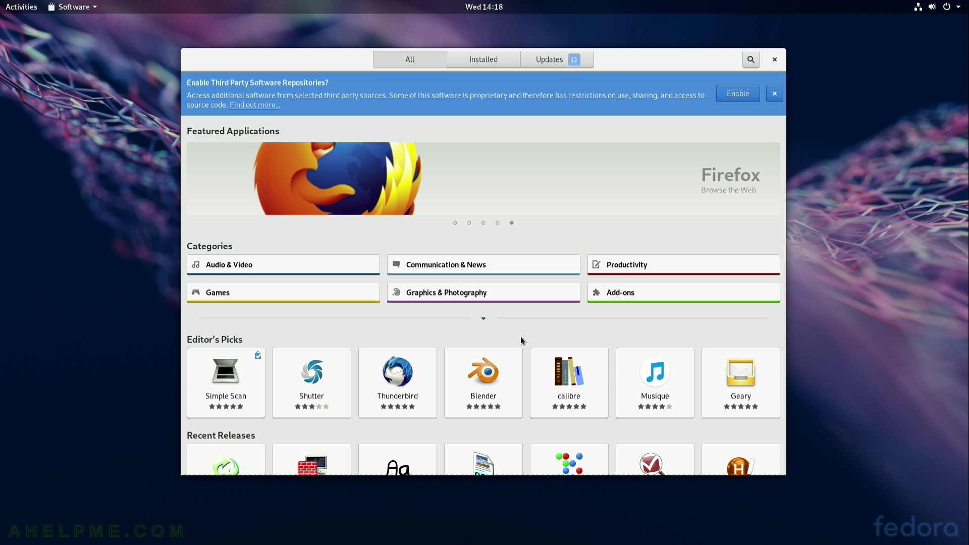 Review of freshly installed Fedora 29 Workstation (Gnome GUI) | Any
