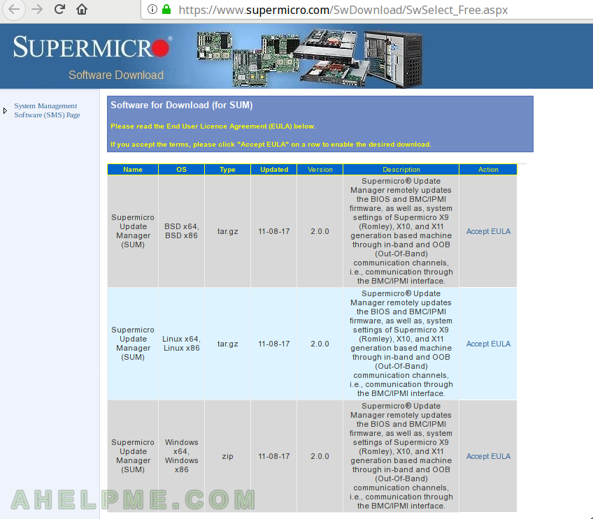 Update supermicro server's firmware BIOS under linux with the SUM