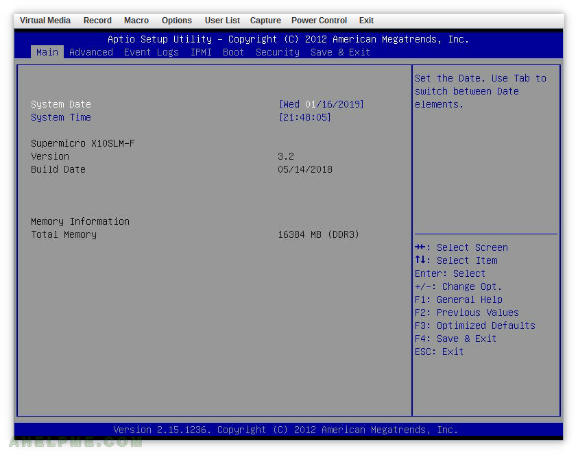 Update supermicro X10SLM-F firmware BIOS under Linux with